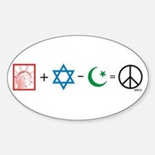 USA plus Israel minus Islam is Peace Decal