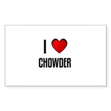 I LOVE CHOWDER Rectangle Decal