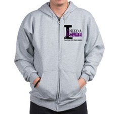 I Need A Cure CYSTIC FIBROSIS Zip Hoodie