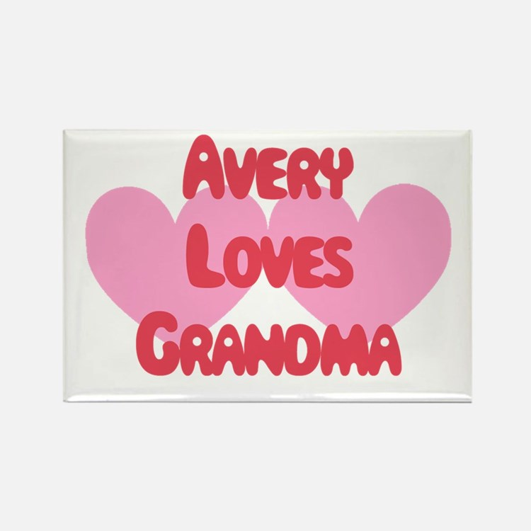 Avery Loves Grandma Rectangle Magnet
