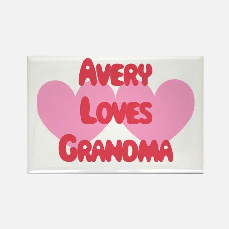 Avery Loves Grandma Rectangle Magnet