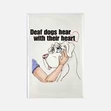 Nw DD Hear With Their Heart Rectangle Magnet