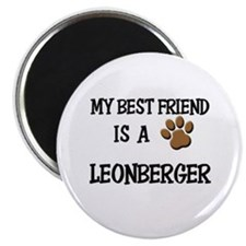 My best friend is a LEONBERGER Magnet