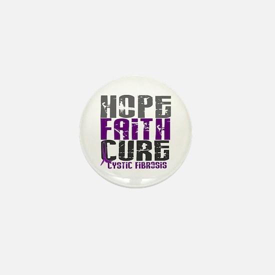 HOPE FAITH CURE Cystic Fibrosis Mini Button