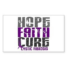 HOPE FAITH CURE Cystic Fibrosis Decal
