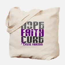 HOPE FAITH CURE Cystic Fibrosis Tote Bag