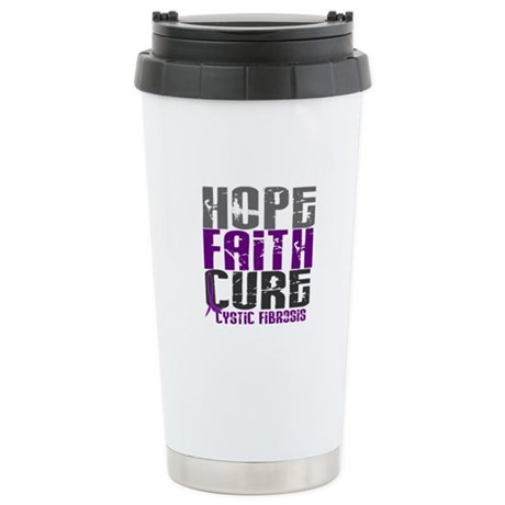 HOPE FAITH CURE Cystic Fibrosis Stainless Steel Tr