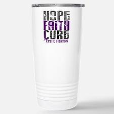 HOPE FAITH CURE Cystic Fibrosis Travel Mug