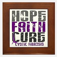 HOPE FAITH CURE Cystic Fibrosis Framed Tile