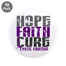 "HOPE FAITH CURE Cystic Fibrosis 3.5"" Button (10 pa"