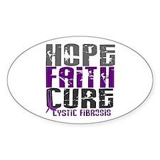 HOPE FAITH CURE Cystic Fibrosis Decal