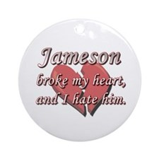 Jameson broke my heart and I hate him Ornament (Ro