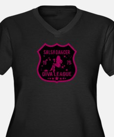 Salsa Dancer Diva League Women's Plus Size V-Neck