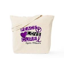 PEACE LOVE CURE Cystic Fibrosis (L1) Tote Bag