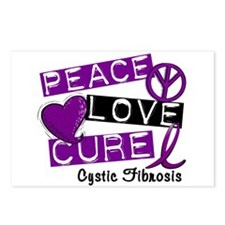 PEACE LOVE CURE Cystic Fibrosis (L1) Postcards (Pa