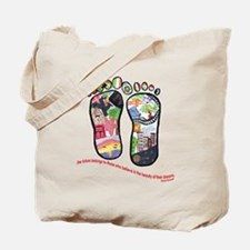 Traveling feet with Eleanor Roosevelt quote Tote B