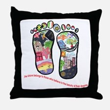 Traveling feet with Eleanor Roosevelt quote Throw