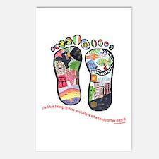 Traveling feet with Eleanor Roosevelt quote Postca