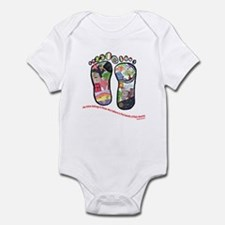 Traveling feet with Eleanor Roosevelt quote Infant
