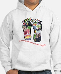 Traveling feet with Eleanor Roosevelt quote Hoodie