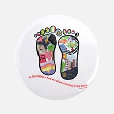 """Traveling feet with Eleanor Roosevelt quote 3.5"""" B"""