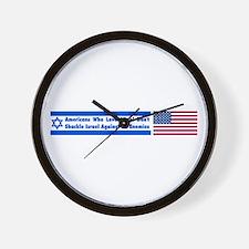 Don't Shackle Israel Wall Clock