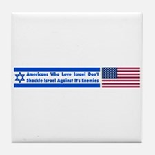 Don't Shackle Israel Tile Coaster