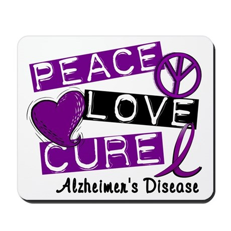 PEACE LOVE CURE Alzheimer's Disease Mousepad