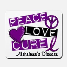 PEACE LOVE CURE Alzheimer's Disease Mousepad
