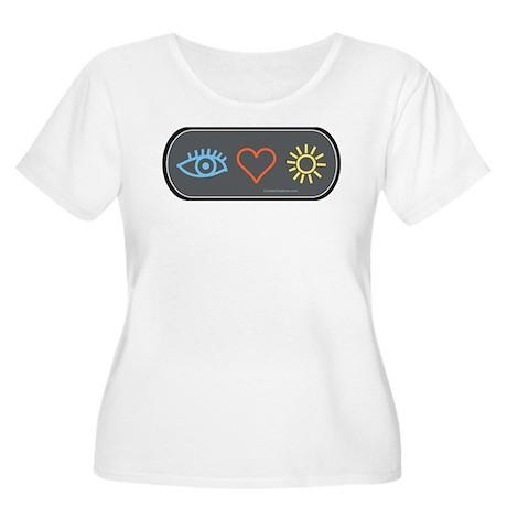I-Love-Sunshine - Women's Plus Size Scoop Neck T-S