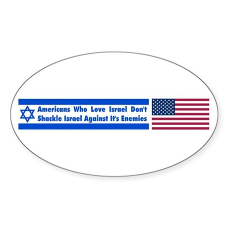 Don't Shackle Israel Oval Sticker
