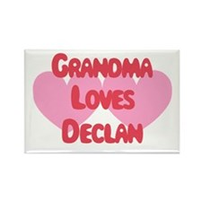 Grandma Loves Declan Rectangle Magnet