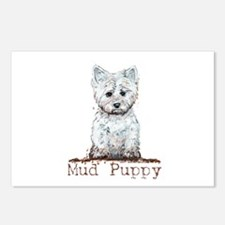 Mud Puppy Westie Terrier Postcards (Package of 8)