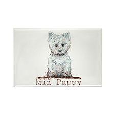 Mud Puppy Westie Terrier Rectangle Magnet
