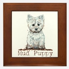 Mud Puppy Westie Terrier Framed Tile