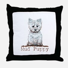 Mud Puppy Westie Terrier Throw Pillow