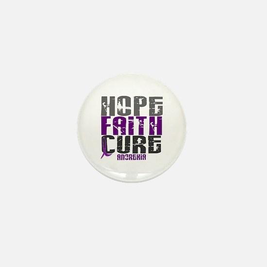 HOPE FAITH CURE Anorexia Mini Button