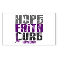 HOPE FAITH CURE Anorexia Rectangle Decal
