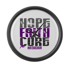 HOPE FAITH CURE Anorexia Large Wall Clock