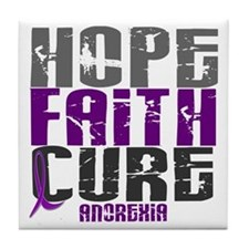 HOPE FAITH CURE Anorexia Tile Coaster
