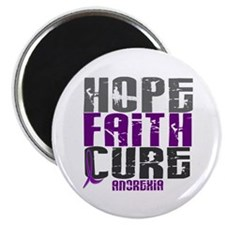 """HOPE FAITH CURE Anorexia 2.25"""" Magnet (100 pack)"""
