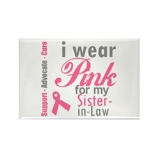 I Wear Pink Sister-in-Law Rectangle Magnet