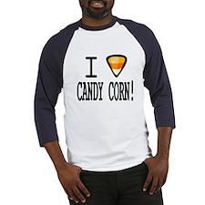 I Love Candy Corn Baseball Jersey