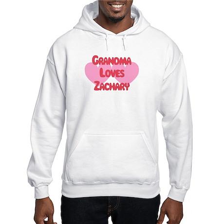 Grandma Loves Zachary Hooded Sweatshirt