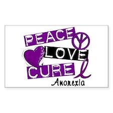 PEACE LOVE CURE Anorexia (L1) Rectangle Bumper Stickers