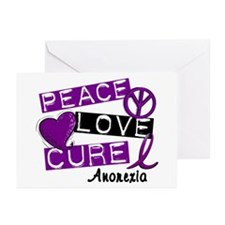 PEACE LOVE CURE Anorexia (L1) Greeting Cards (Pk o