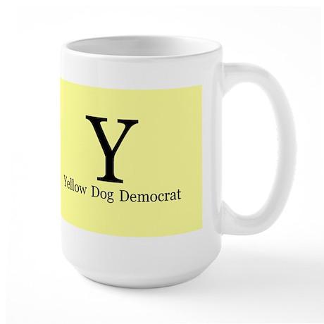 Yellow dog democrat Large Mug