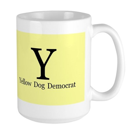 Yellow dog democrat Large Mug