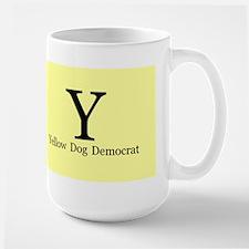 Yellow Dog Democrat Large Mug Mugs