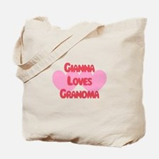 Gianna Loves Grandma Tote Bag